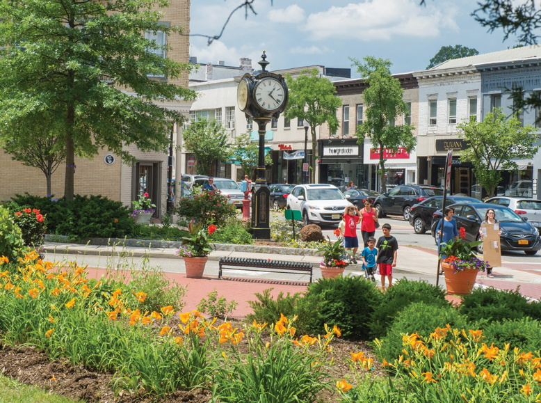 A scene in downtown Ridgewood, number 14 on our list of the state's Top Towns.