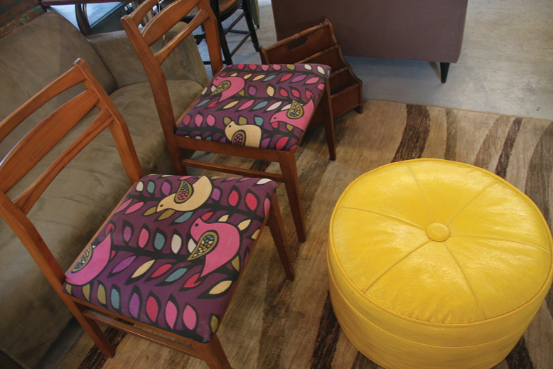 Some of the funky finds at L.O.V.E. Furniture, where repurposed can be remarkable.