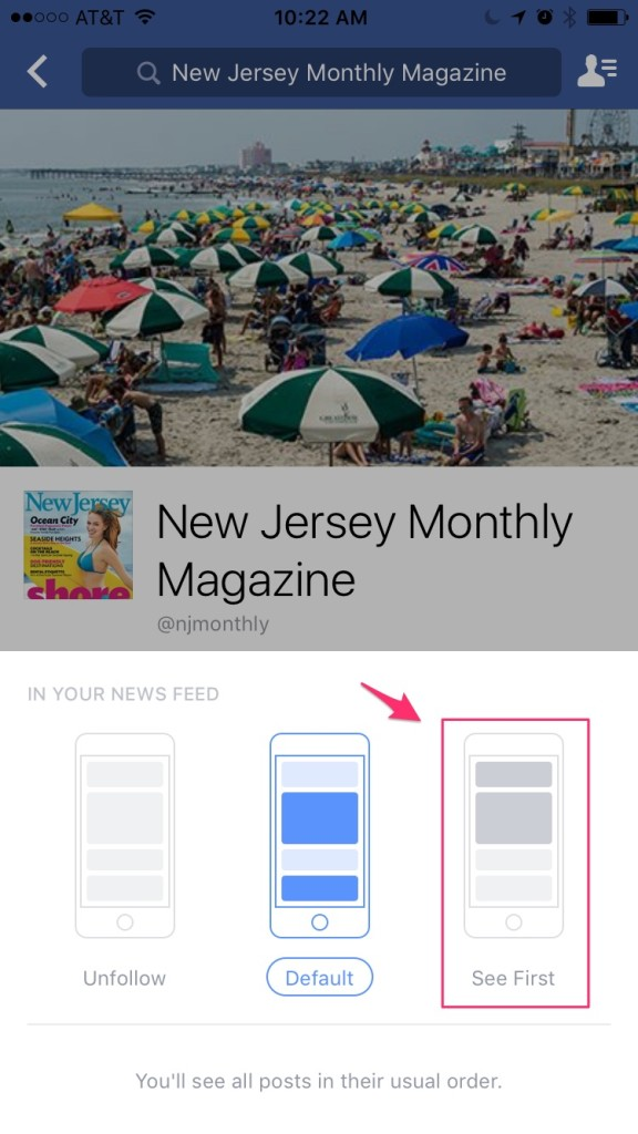 New Jersey Monthly Magazine Facebook Fan Page