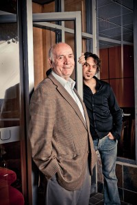 Zod Arifai with his father, Durak, also a chef, at Blu in 2009. Photo: Chris Crisman