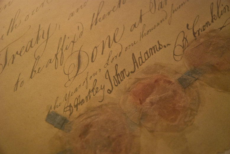 Signatures on the Treaty of Paris. Courtesy of Flickr / Creative Commons