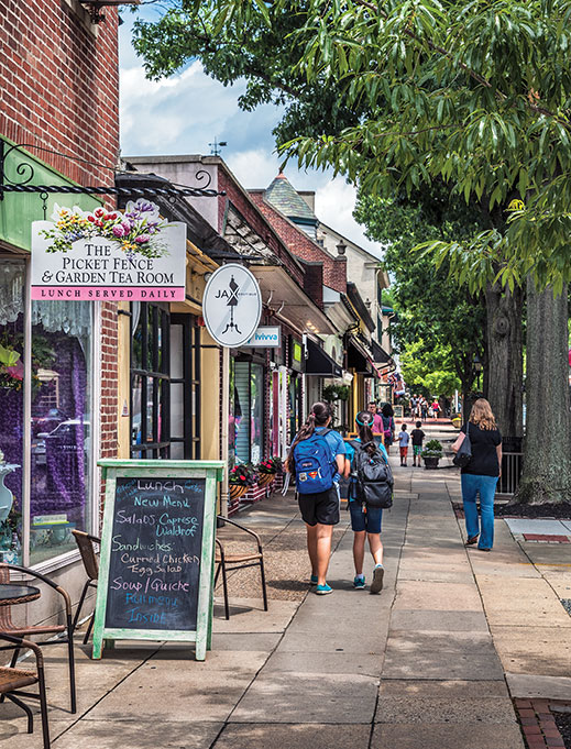 Downtown Haddonfield offers a plethora of locally-owned businesses.