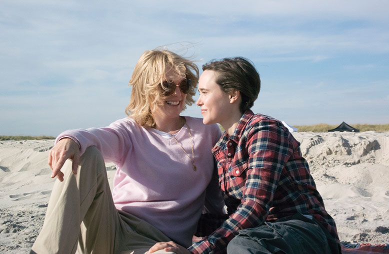 Julianne Moore, left, and Ellen Page portray New Jerseyans Laurel Hester and Stacie Andree in the film Freeheld.