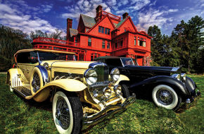 A Duesenberg and a Packard from the collection of Joseph Cassini will be among the cars on display October 18 at Glenmont.