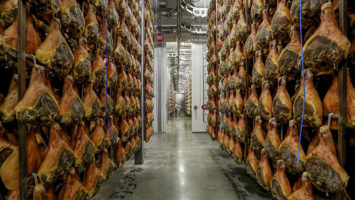Hams aging in the Beretta facility in Mount Olive. Photo: Courtesty Fratelli Beretta
