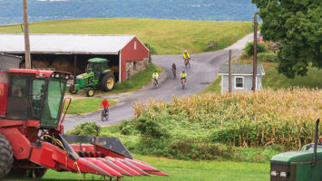 The tour departs from Race Farm in Blairstown and proceeds up scenic Dry Road.