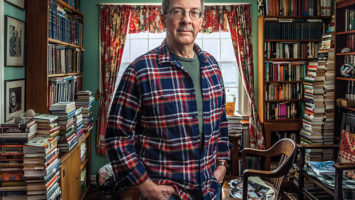 Dr. Frederick Lepore's home in Princeton brims with books, and even a jar of preserved brains (on window ledge) although not Albert Einstein's.