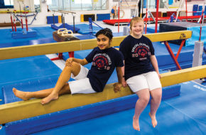 Special Olympians Rhea Alathur, left, of Monroe, and Morgan Hulteen of Neptune, train at the Schafer Sports Center in Ewing.