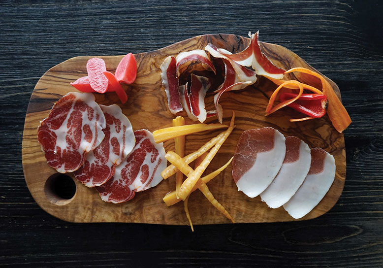 Viaggio: A platter of salumi, many of which are made in house, as are all the pastas.