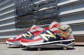 Michael Perez created these July 4th cleats for Chicago White Sox pitcher Hector Santiago.