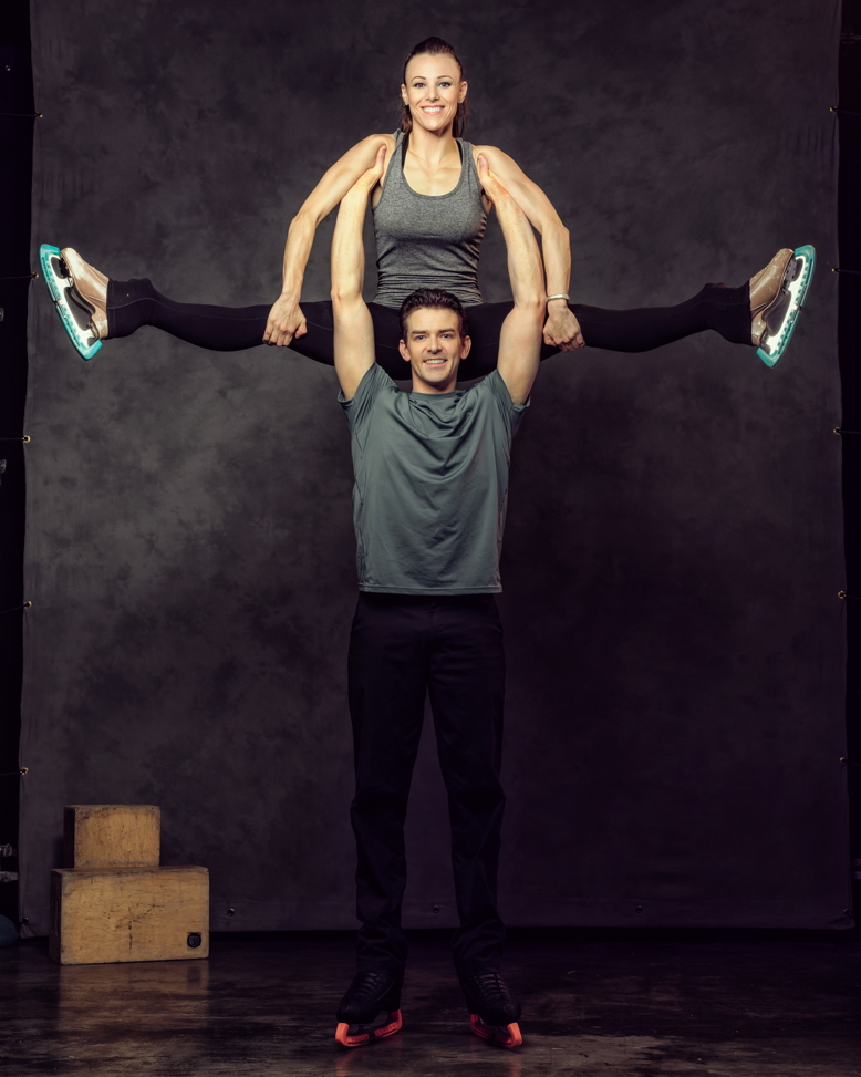 Jessica and Brendyn Hatfield, world-class ice skaters.
