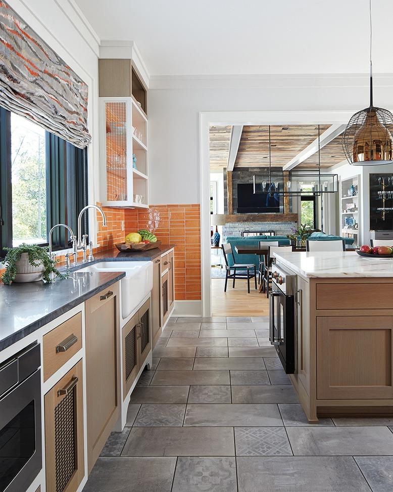 Kitchen designed by Dan Ruhland in New Vernon, NJ