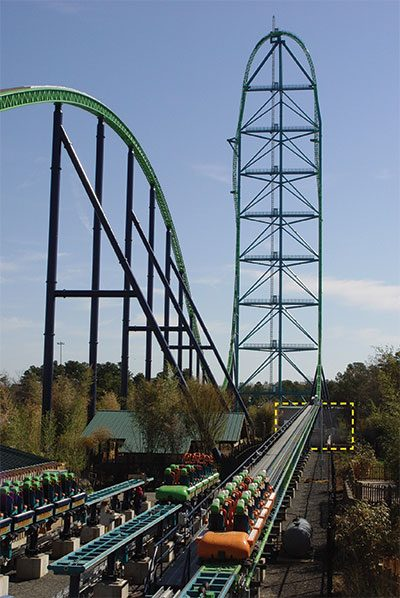how things work kingda ka roller coaster at six flags great