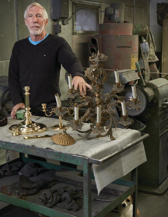James Sherron meticulously cleans and refurbishes antiques in an array of metals at Metal Masters Restoration.