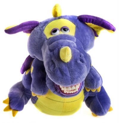 Meet Prince, a dragon with dentures the KinderSmile Foundation uses to teach special needs children oral hygiene.