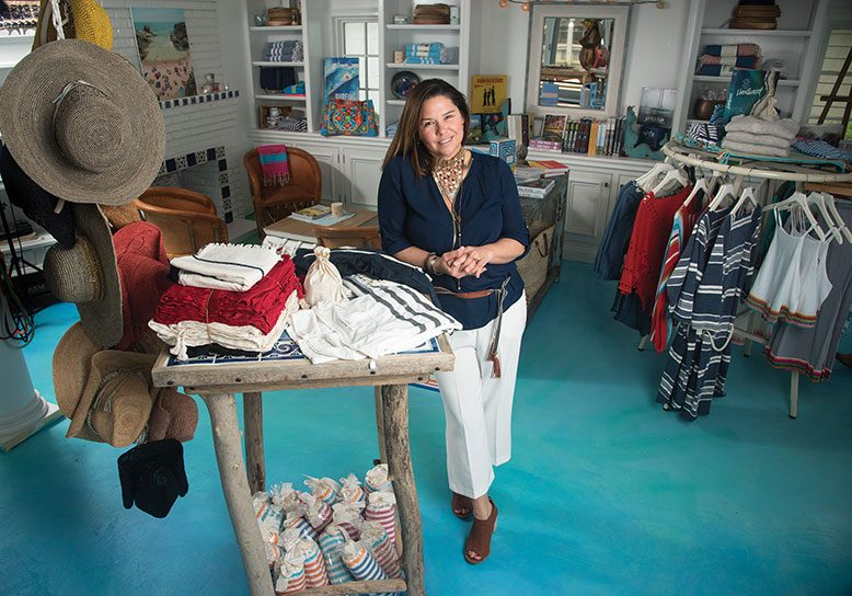 Wendy Dinneen culls her hip women's apparel, menswear, children's items and accessories from around the world. The addition of reading material is a nod to the community vibe being cultivated to rebuild Sandy-ravaged Bay Head.