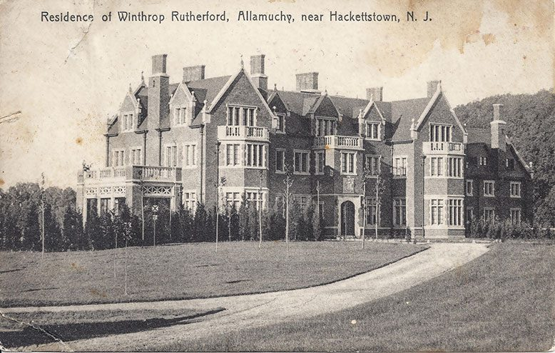 Rutherfurd Hall depicted on a post card, circa 1906.