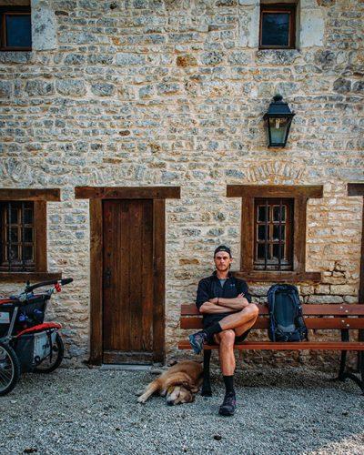Tom Turcich and Savannah in Usson-Du-Poitou, France.