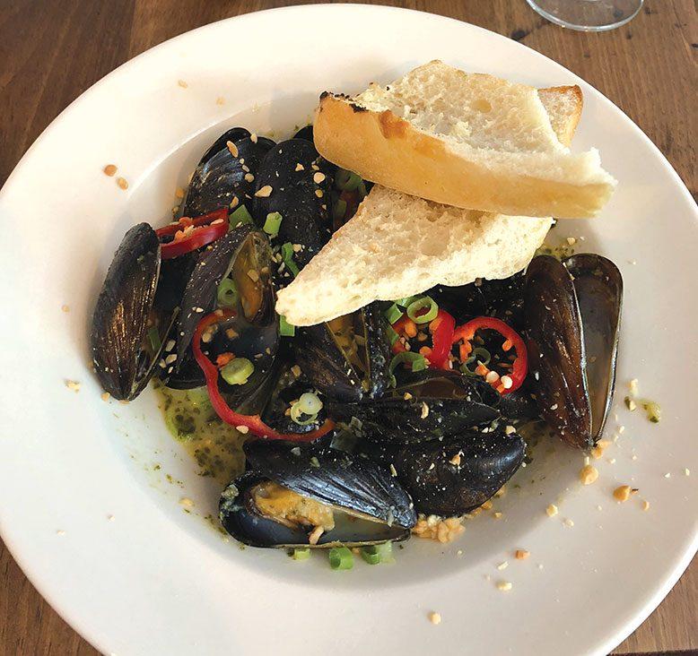 The Jack Talk Thai mussels.